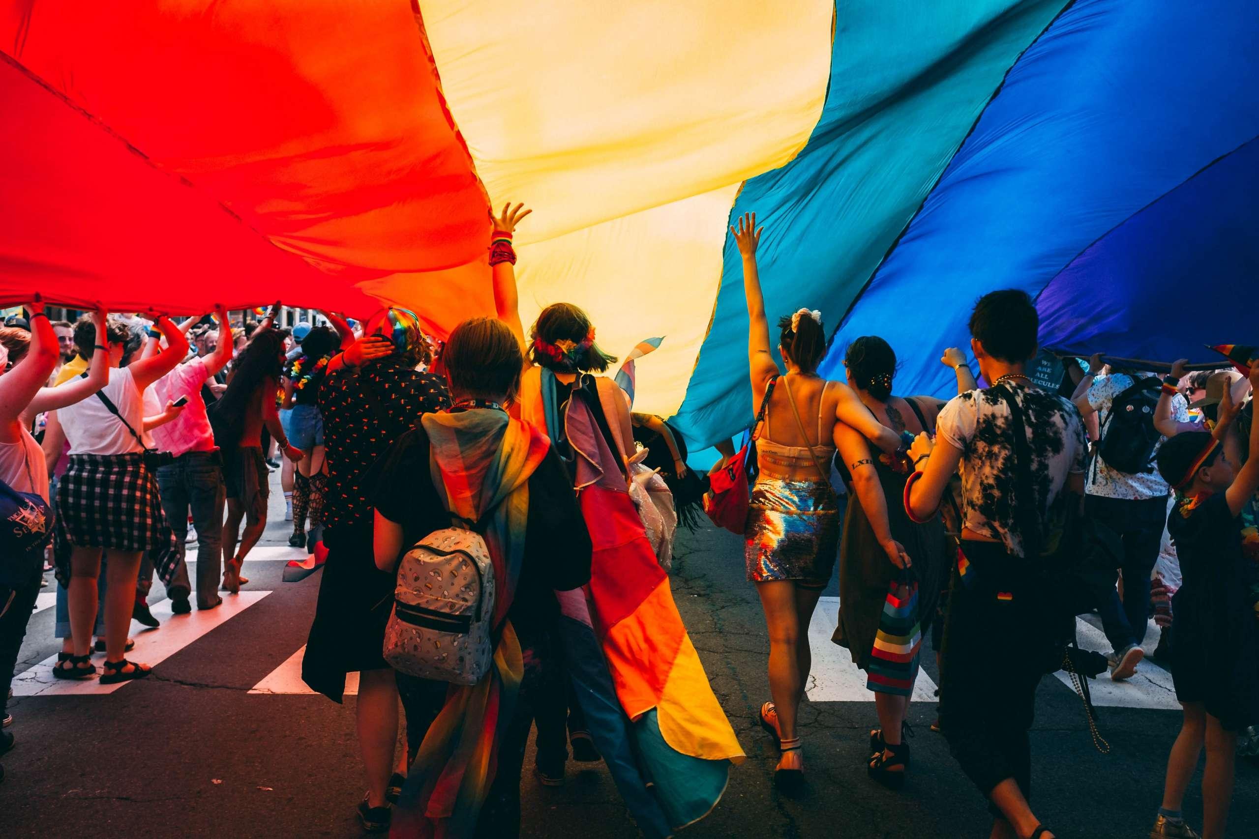 pride flag and parade
